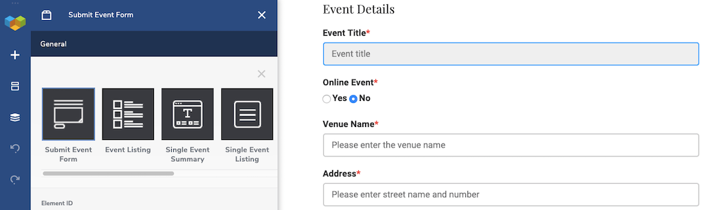 WP Event Manager Submit Event Form