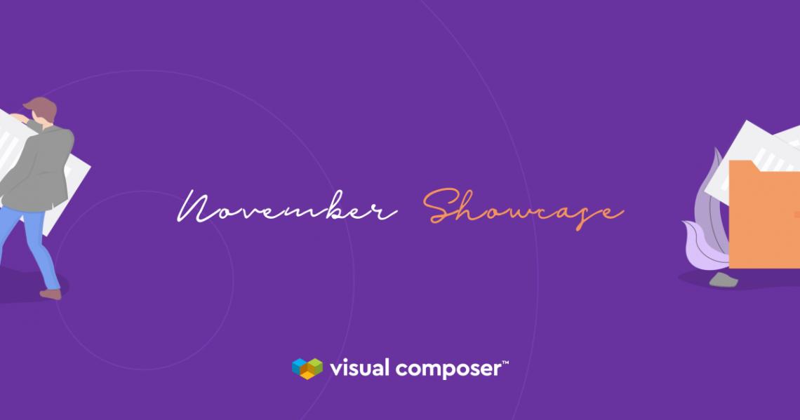 Visual Composer Showcase: November 2019