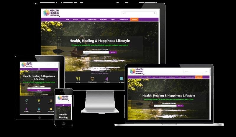 Health Healing Happiness, a responsive website