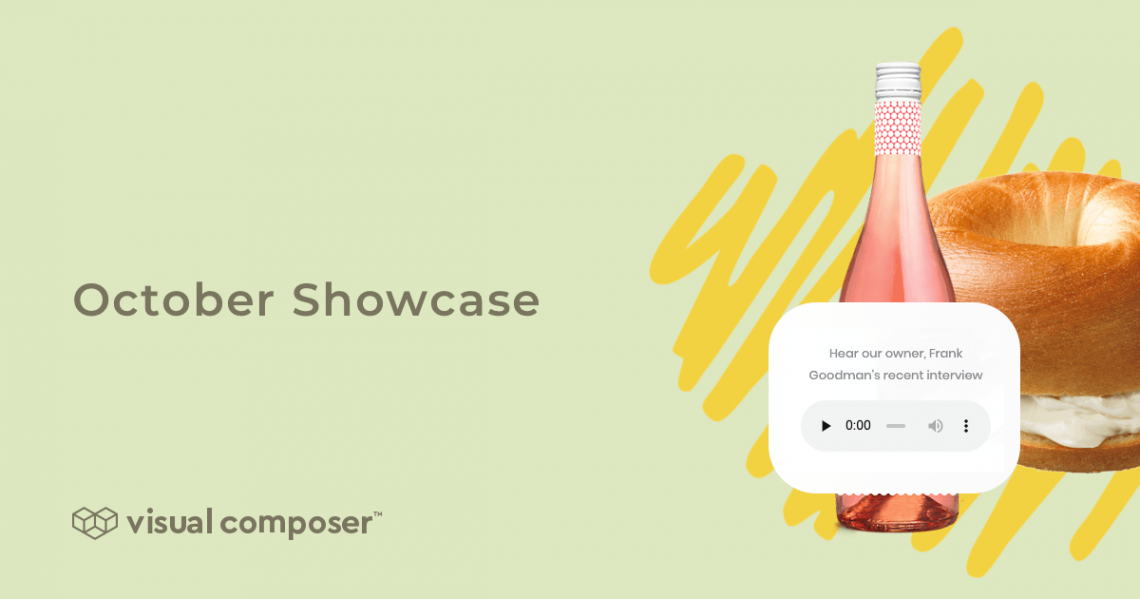 Best web design examples of Visual Composer Showcase: October 2019
