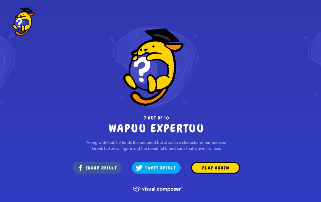 Wapuu Trivia Game Results