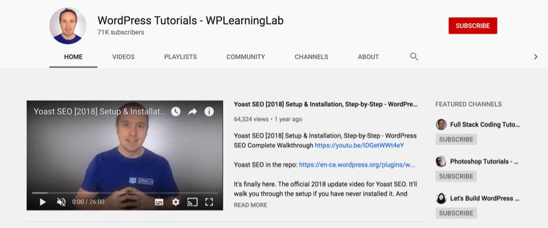 wp learning lab WordPress Tutorials