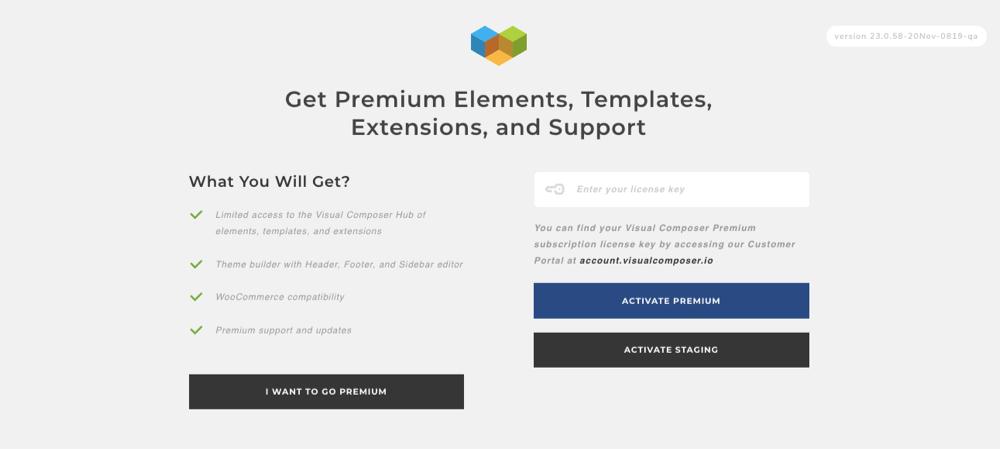 Activate Premium