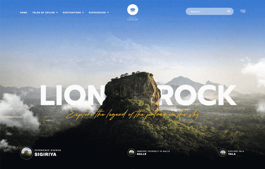 A website example with great typography