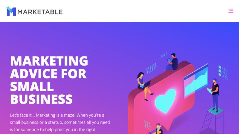 Marketable website example