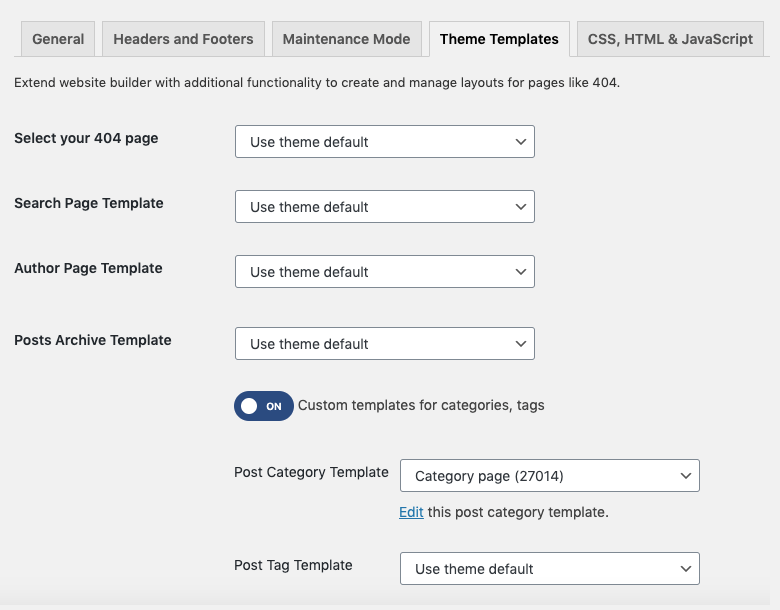 Archive Page Editor