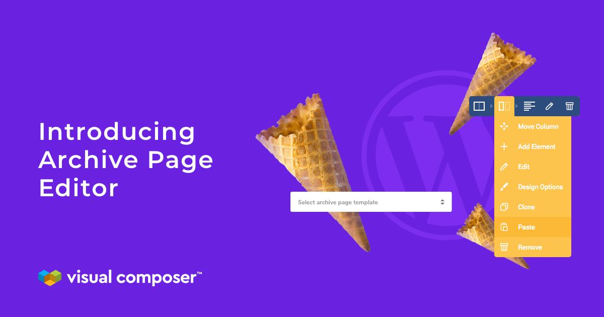 WordPress Archive Page Editor