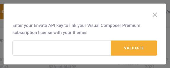 Validate your Envato API Key