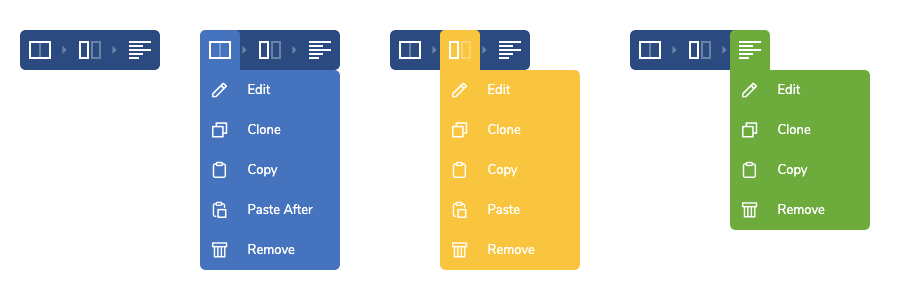 Visual Composer controls