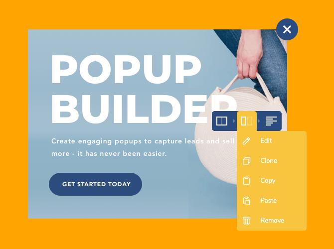 Beautiful popup design example