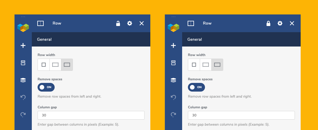 How to lock elements in Visual Composer
