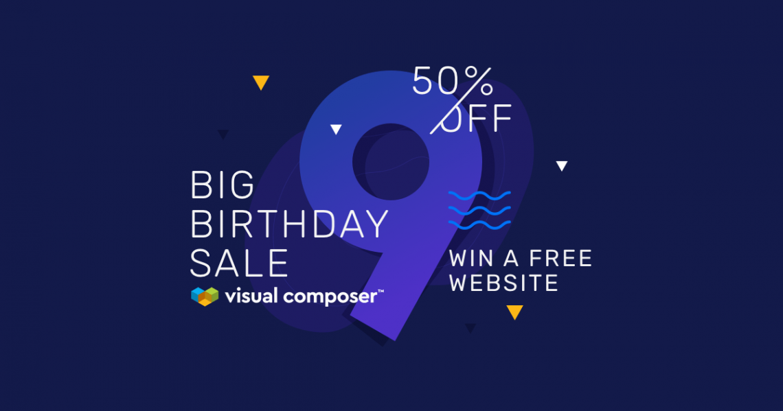Visual Composer Birthday Sale