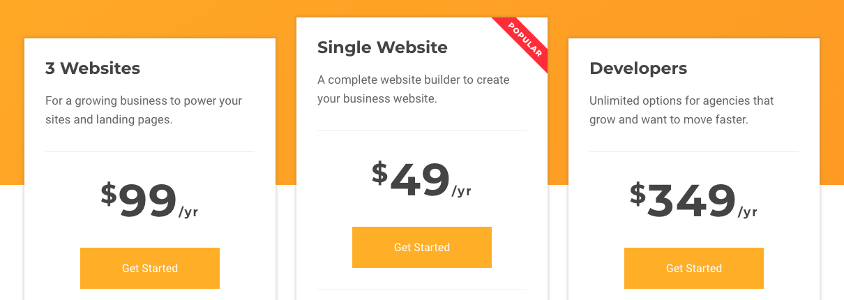 Visual Composer pricing compared to WPBakery