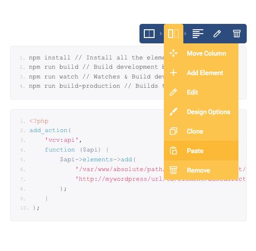 Visual Composer API documentation