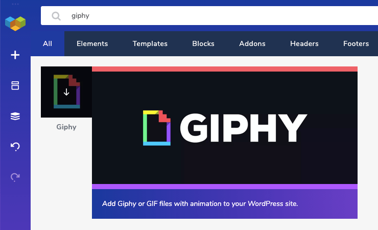 Visual Composer Giphy element for WordPress