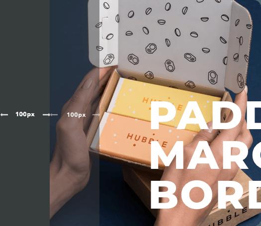 Margin, padding, border, and radius controls of Visual Composer