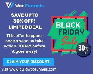 BuildWooFunnels Black Friday discount