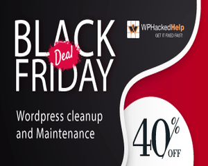 WP Hacked Help Black Friday discount