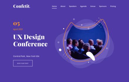 Tech & Design Conference Template Set - CONFETIT
