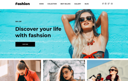 Clothing Store Template Set - FASHION