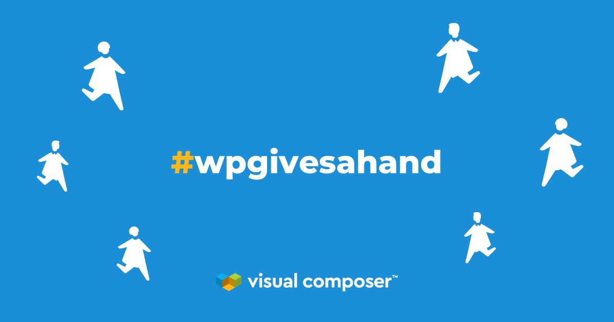 Join #wpgivesahand movement by Visual Composer
