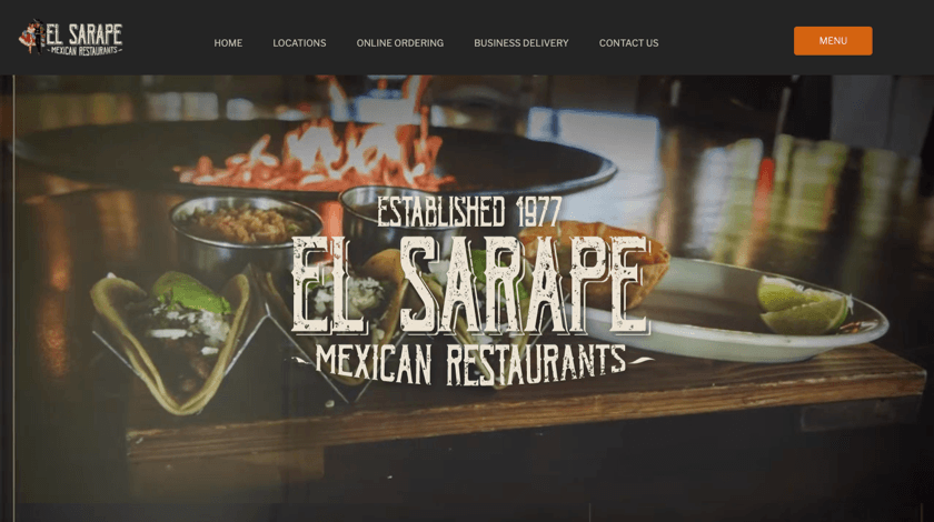 El Sarape website