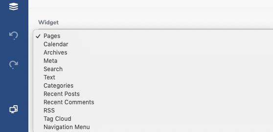 List of Visual Composer WordPress Default Widgets
