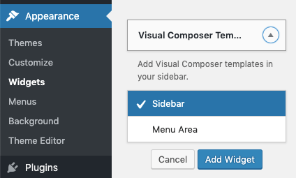Visual Composer Widget Template for WordPress