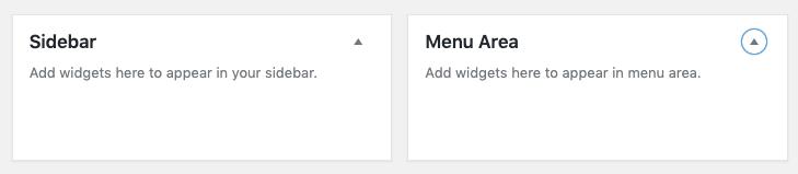 WordPress Sidebar and Menu Widget Areas