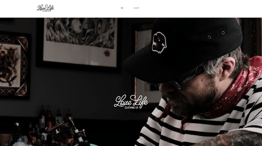 Love Life Clothing website