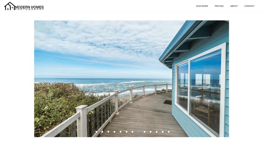 Modern Homes Photography website