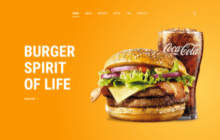 Burger Restaurant Template Set - BURGER STORY