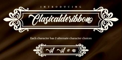Clasicalderibbon font