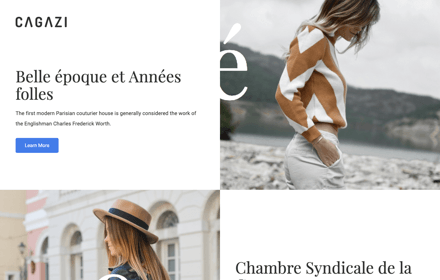 Fashion Magazine Leaflet Template