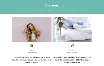 Medium Style Blog Template Set - BLOSSOM
