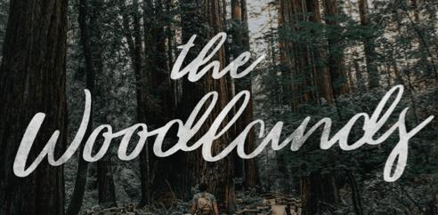 The Woodlands font