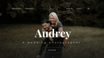 Audrey - wedding photographer website example