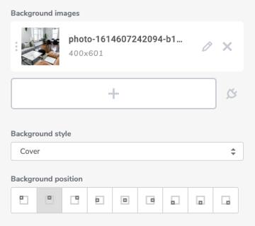 Background image position