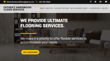 Father's Hardwood website made with the Visual Composer for WordPress