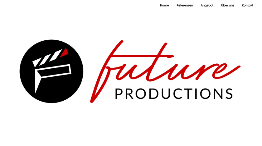 Future Productions website example