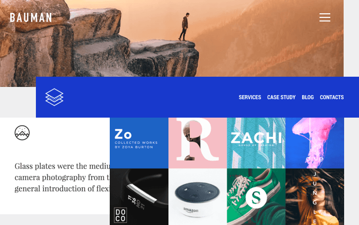 Examples of headers, footers, sidebars by Visual Composer