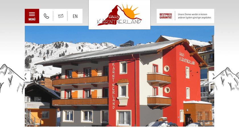 Karntnerland website example