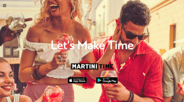 Martini Time webdesign example