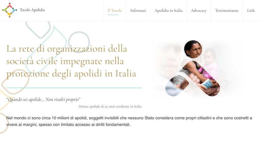 Tavoloapolidia website example