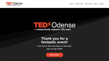 TedX Odense website made with Visual Composer