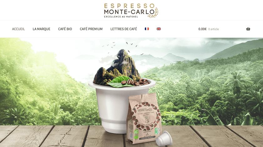 Espresso Monte-Carlo website created with Visual Composer