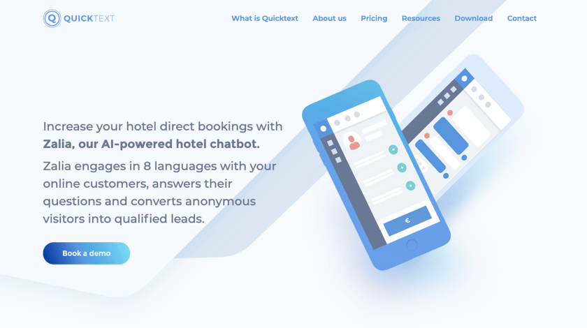 QuickText website example
