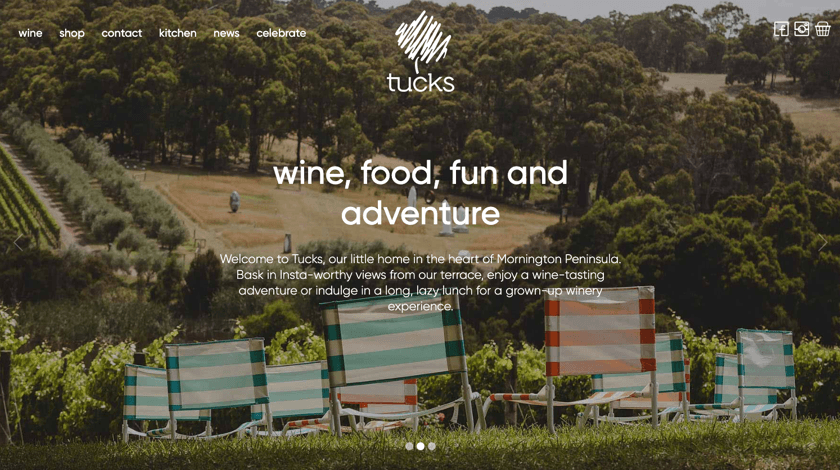 Tucks Website Example