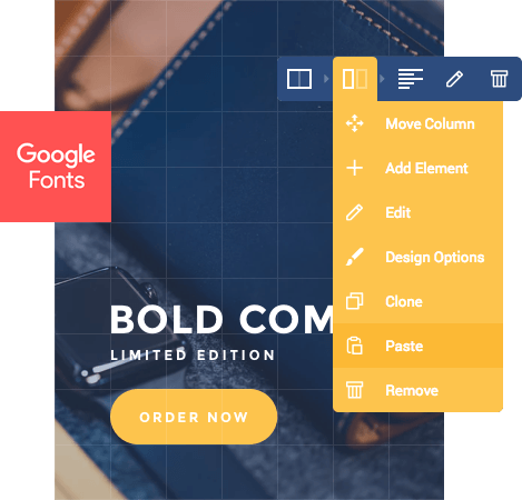 Visual Composer Hub elements for agency