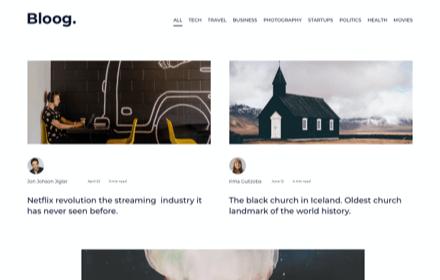 Lifestyle Blog Template Set - BLOOG